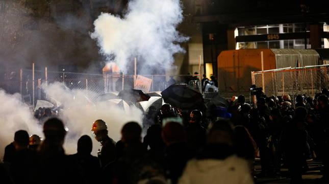 Disturbios en Minnesota.