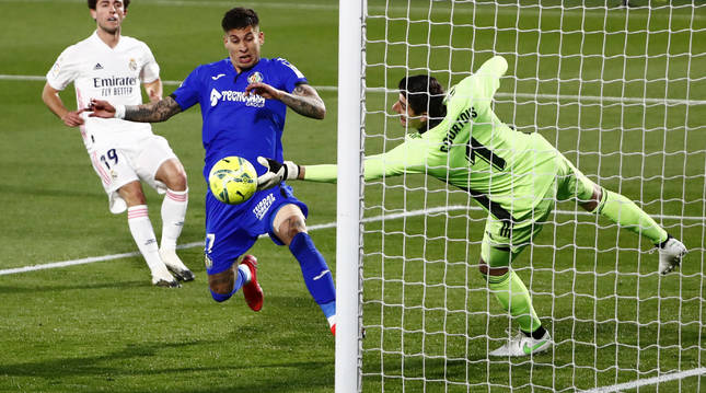 La actuación de Thibaut Courtois fue decisiva para evitar la derrota del Real Madrid.