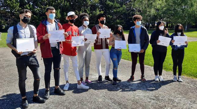 Foto de grupo del alumnado que han ideado los proyectos.