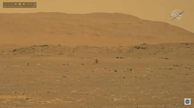 Primeras imágenes del vuelo del helicóptero Ingenuity en Marte