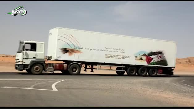Llegada de la caravana navarra al Sáhara