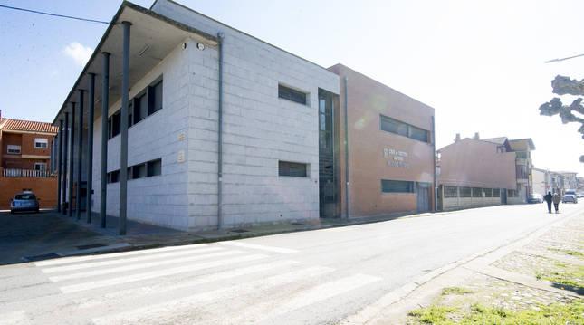 Exterior de la Casa de Cultura de Funes (Navarra)