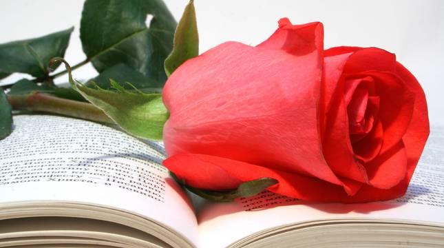 En Sant Jordi, el patrón de Cataluña desde el siglo XV y, según la fiesta popular, el hombre debe regalarle una rosa a la mujer y esta un libro a su pareja.