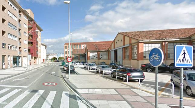 Comienzo de la calle Cruz de Barcacio desde Marcelo Celayeta.