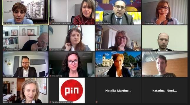 Participantes en la sesión de clausura on line del proyecto europeo Inside Out EU
