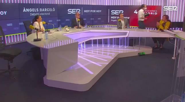 Pablo Iglesias abandona el debate en la SER tras un enfrentamiento con Rocío Monasterio.