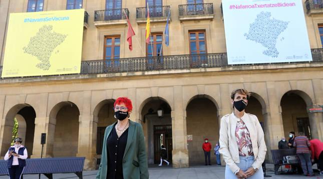 Presentación de la campaña 'Navarra se vacuna'.