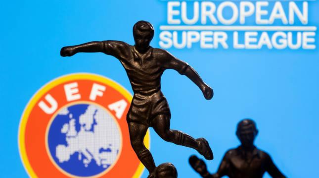 Anuncio de la Superliga europea de fútbol.