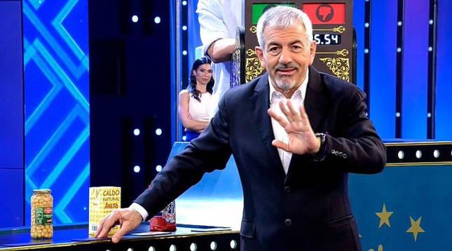 Carlos Sobera presenta 'El precio justo' en Telecinco.