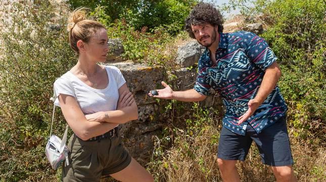 Imágenes del rodaje de 'Crónicas bizarras' en Navarra