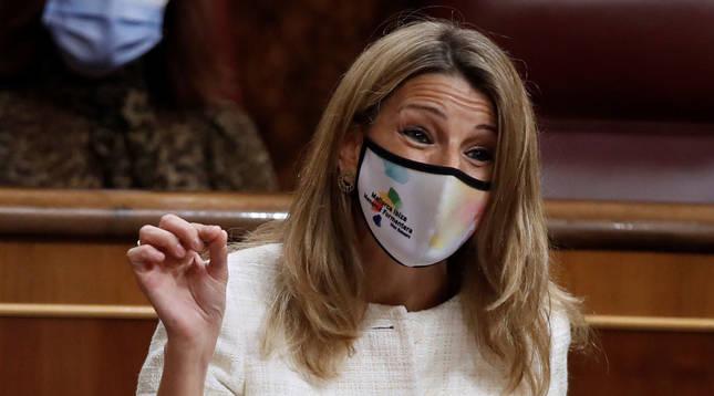 Foto de Yolanda Díaz, vicepresidenta tercera del Gobierno y ministra de Trabajo y Economía Social