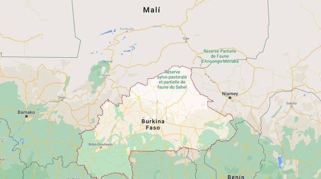 Mapa de Burkina Faso.