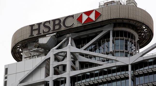 Sede principal del HSBC en sus oficinas de Hong Kong.