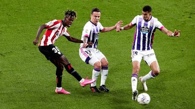 Foto del partido de LaLiga Santander entre el Athletic y el Valladolid.
