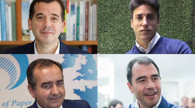 Mikel Irujo, Javier López, Javier Apecechea y Elías Gómez.