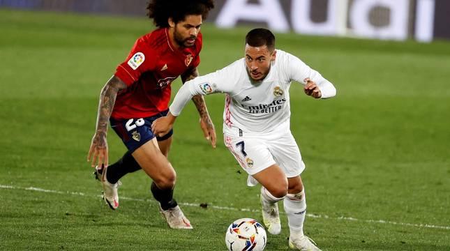 Imágenes del partido entre Real Madrid y Osasuna en el estadio Alfredo Di Stéfano.