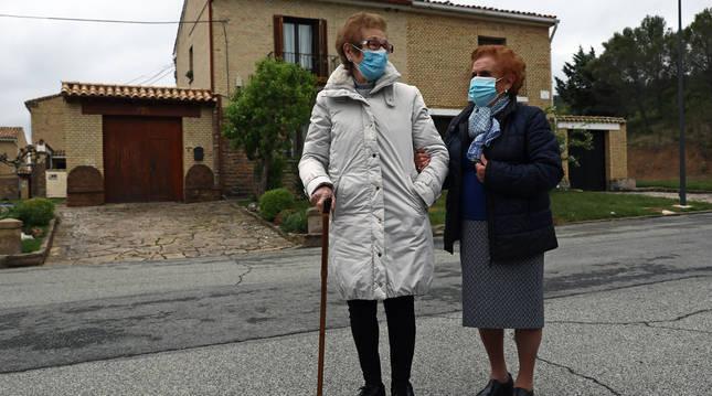 Araceli Tainta Rodrigo y Corpus Jaria Orduna, de 88 y 89 años.