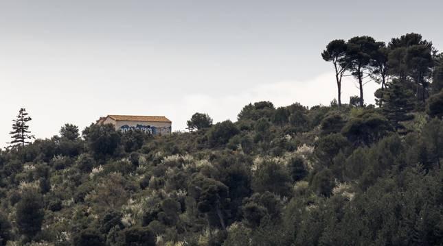 Exterior de la ermita de Santa Bárbara de Estella.