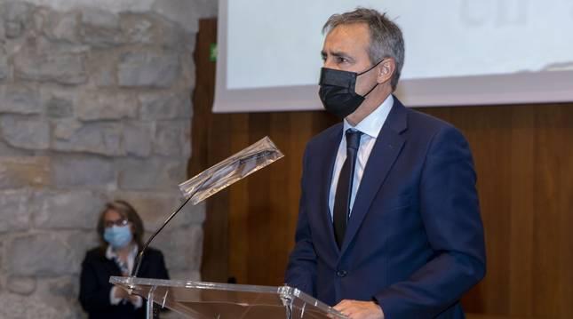 Tomás Caballero, durante su intervención en el acto.