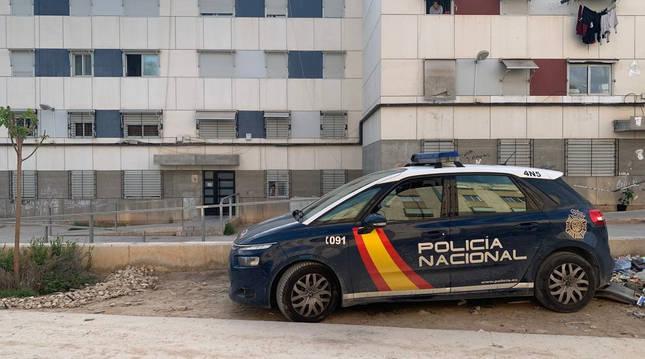 Foto de un coche de la Policía Nacional.