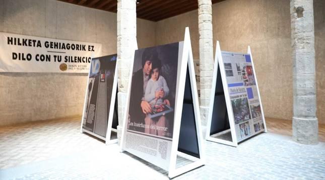 Fotos de la exposición 'El terror a portada. 60 años de terrorismo en España'