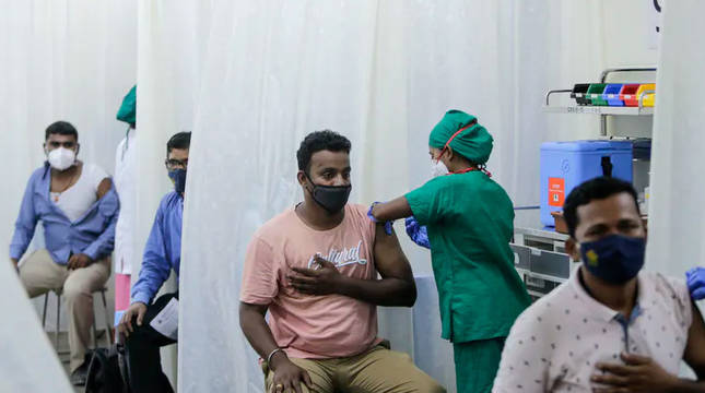 Vacunación en La India.