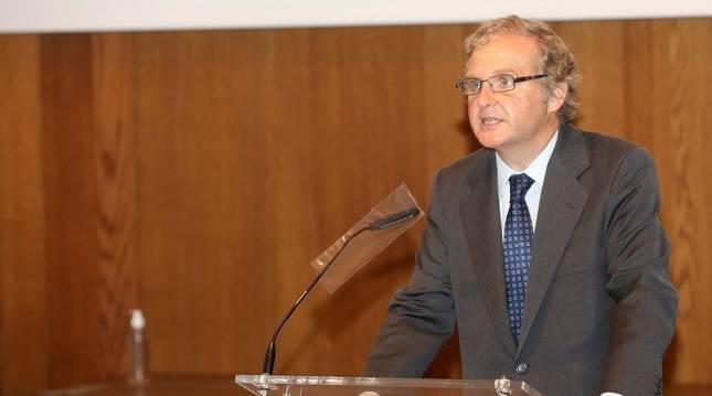 Un momento del discurso del presidente del grupo Vocento, Ignacio de Ybarra.