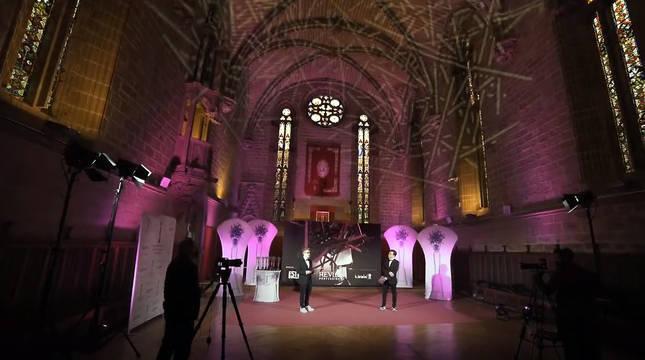 El refectorio de la Catedral de Pamplona, epicentro de la peluquería mundial