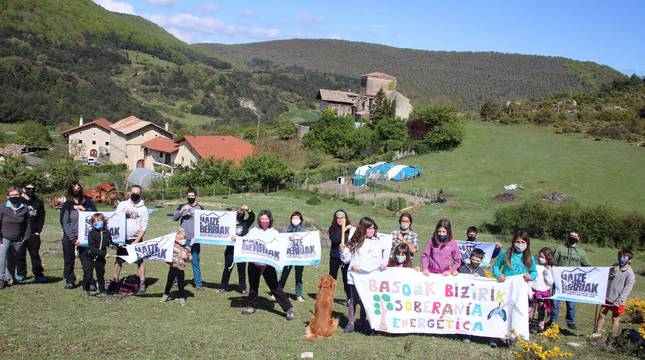 Imagen tomada en Anotz, donde el domingo será la primera marcha.