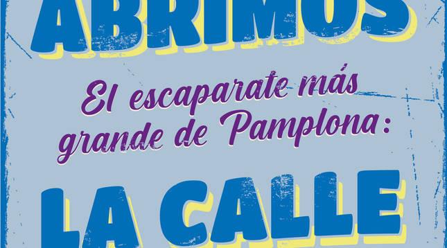 Cartel anunciador de la iniciativa que ha partido del Ayuntamiento de Pamplona.