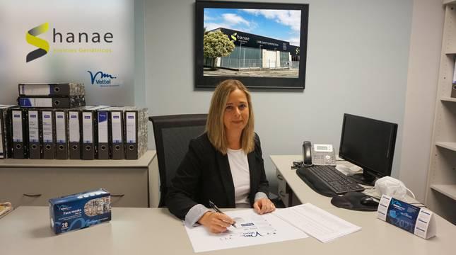 Silvia Munarriz Abadín, en su despacho de Shanae