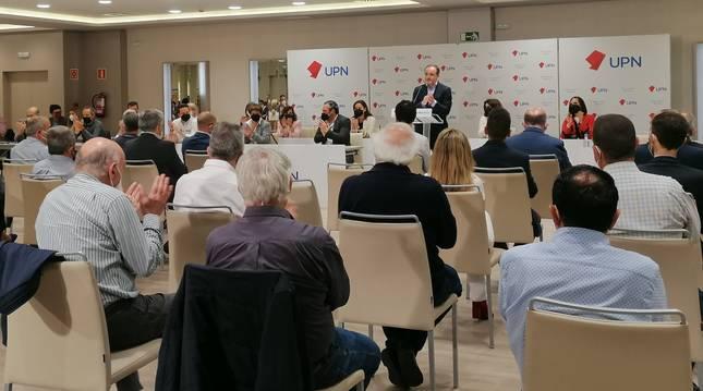 Javier Esparza, en su intervención al inicio del Consejo Político de UPN.