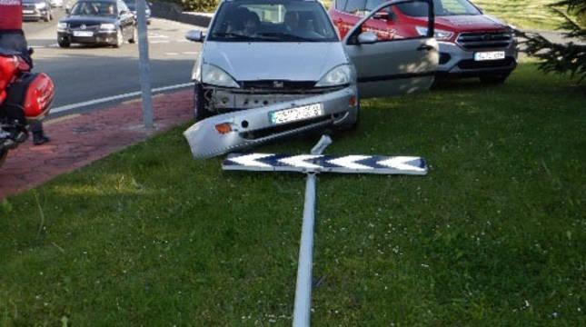 Estado en el que quedó el vehículo tras el accidente.