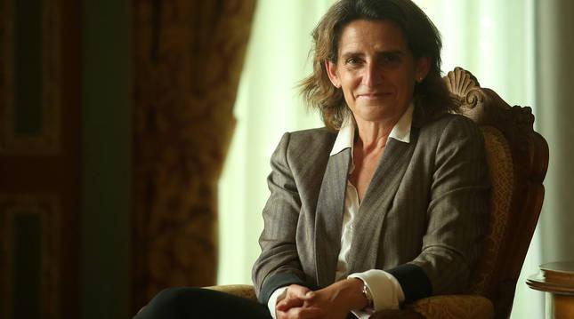 Foto de Teresa Ribera, en un momento de la entrevista.