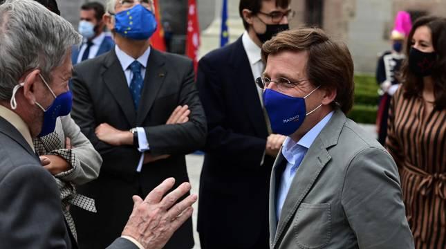El alcalde de Madrid, José Luis Martínez-Almeida, en la celebración del Día de Europa.