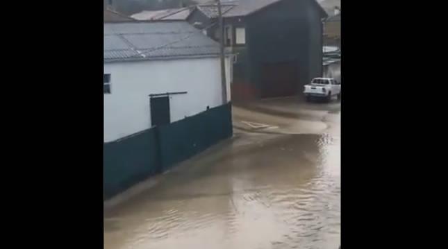 Foto de inundación en Miranda de Arga.