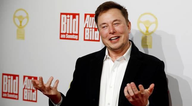 Elon Musk en Berlín en 2019.