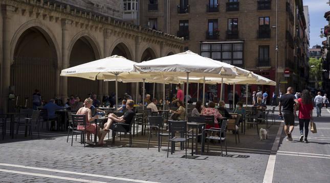Terrazas en Pamplona.