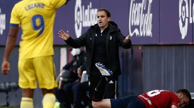 Jagoba Arrasate, en el partido contra el Cádiz.