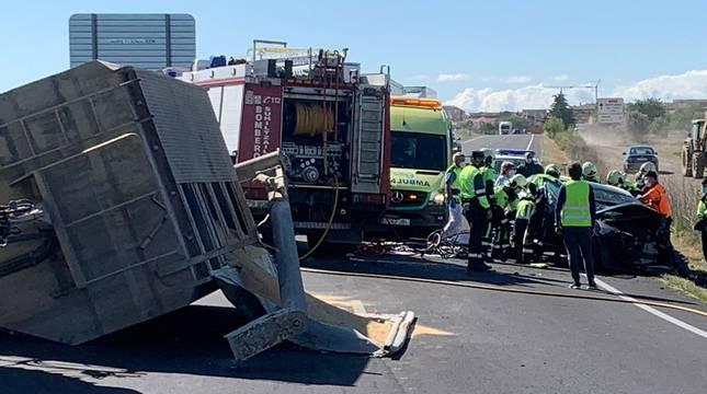 El accidente ha tenido lugar en elkilómetro 29de la carretera NA-134.