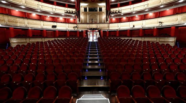 Vista interior del Teatro Real de Madrid.