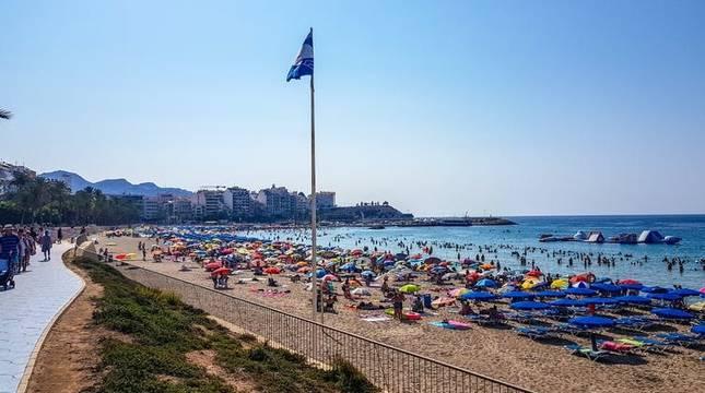 Playa de Poiente (Benidorm, Comunitat Valenciana).