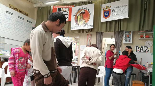 Foto del trabajo de apoyo en cooperación internacional del Ayuntamiento de Pamplona.