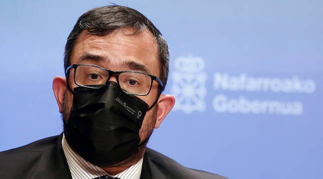 El vicepresidente y portavoz del Ejecutivo navarro, Javier Remírez.