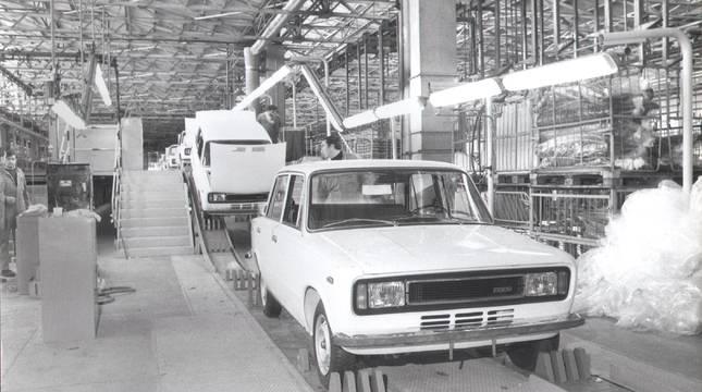 Un Seat 124 producido en la fábrica de Landaben.