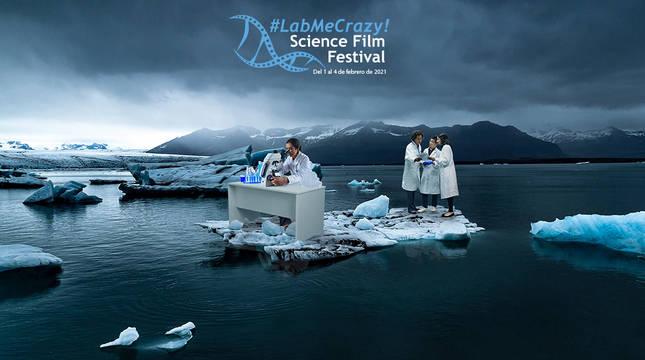 Cartel del #LabMeCrazy! Science Film Festival.