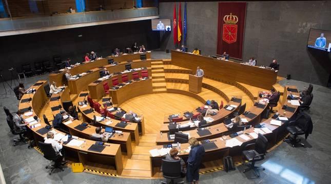 Un pleno del Parlamento de Navarra.