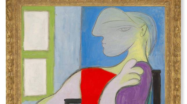 Fotografía cedida por Christie's donde se muestra la obra 'Femme assise près d
