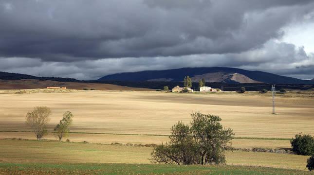 Vista tomada en octubre pasado de terrenos de Adiós donde se proyecta uno de los parques solares de la empresa Solaria.