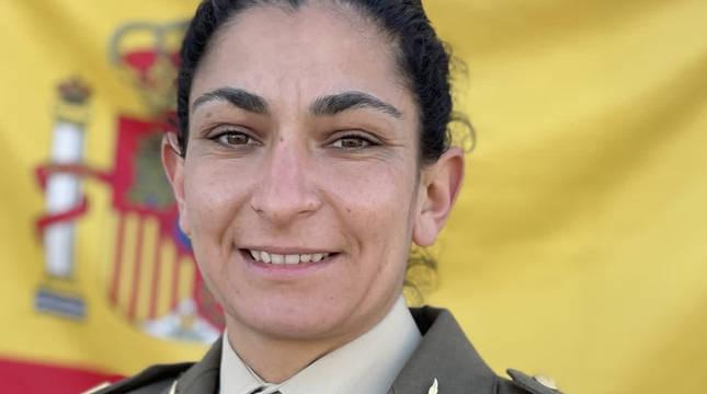 La sargento de artillería Débora Grau.